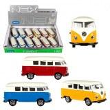 Voiture miniature métal Welly VW combi T1 1:60 coloris assortis à partir de 1,99€ HT