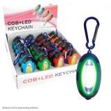 Lampe de poche COB LED crochet carabine 7,5cm coloris assortis à partir de 0,77€ HT