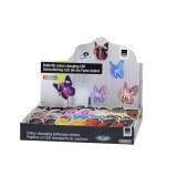 Papillon LED 11cm modèles assortis
