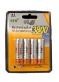 Lot de 4 batteries Akku NiMh3800 AA LR06 1,2V à partir de 5,05€ HT