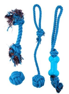 Set de 4 jouets coton pour chien coloris assortis à partir de 4,77€ HT