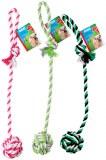 Balle corde à lancer coton 57cm coloris assortis à partir de 1,32€ HT