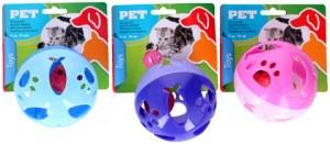 Balle PVC avec grelot pour chat Ø 10cm coloris assortis à partir de 0,88€ HT