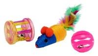 Set de 3 jouets pour chat modèles assortis à partir de 0,82€ HT