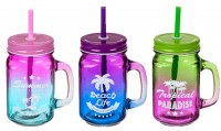 Chope en verre Mason Jar Summer 45cl coloris assortis à partir de 0,74€ HT