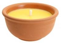 Bougie anti-moustiques citronnelle pot terracotta Ø 13cm à partir de 2,39€ HT