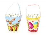 Corbeille ronde à anse de Pâques 10cm modèles assortis à partir de 0,71€ HT