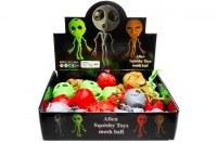 Balle anti-stress Squeeze Alien 12cm modèles assortis à partir de 0,60€ HT
