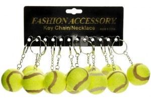 Porte-clés balle de tennis Ø 4,5cm