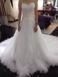 Fabricant magnifique robes de marieé en taffetas et plumes