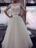 Fabricant magnifique robes de marieé en dentelle et tulle