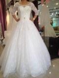 Fabricant magnifique robes de marieé en dentelle et taffetas