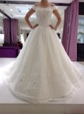 Fabricant magnifique robe de marieé en dentelle , tulle et perles