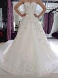 Fabricant magnifique robe de marieé en satin , tulle et perles
