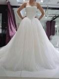 Fabricant magnifique robe de marieé en crêpe et satin