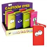 "Briquet à gaz métal ""Cartoon Eyes"" coloris assortis"