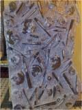 Plaque en marbre fossilisé