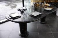 TABLE de salle à manger en marbre fossilisé