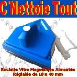 Raclette Lave Vitre Magnetique Aimant Néodyme Surpuissant 04/40 mm