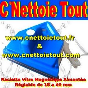 RACLETTE VITRE MAGNETIQUE AIMANTEE REGLABLE 04 / 45 mm