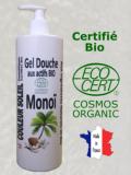 GEL DOUCHE BIO MONOÏ - Antioxydant et Tonique - 500 ML - Certifié Bio COSMOS ECOCERT -...