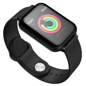 Montre connectée bracelet en Silicone W57-Noir