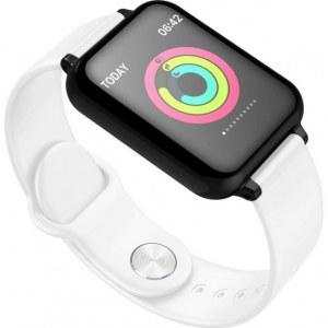 Montre connectée bracelet en Silicone W57-Blanc