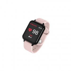 Montre connectée bracelet en Silicone W57-Rose