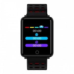 Montre connectée sport , bracelet intelligent pour Iphone et Android-Rouge