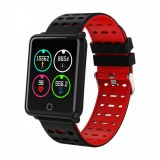 Montre connectée sport , bracelet intelligent pour Iphone et Android-Rouge