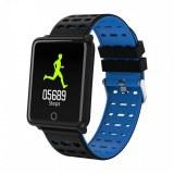 Montre connectée sport , bracelet intelligen pour Iphone et Android-Bleu
