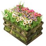 Carton de 4 - Cagette de 12 bouquets d'anémones