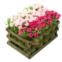 Carton de 4 - Cagette de 12 bouquets de boutons
