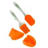 Euro Lady EL-4KHS: Outils de Cuisson 4 Pièces Orange
