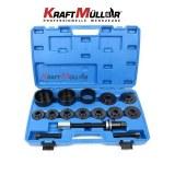 KRAFTMULLER,Outil d'installation de retrait de roulement de moyeu de roue avant 19pc