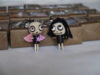 Lot de 12 poupées VOODOO en bois