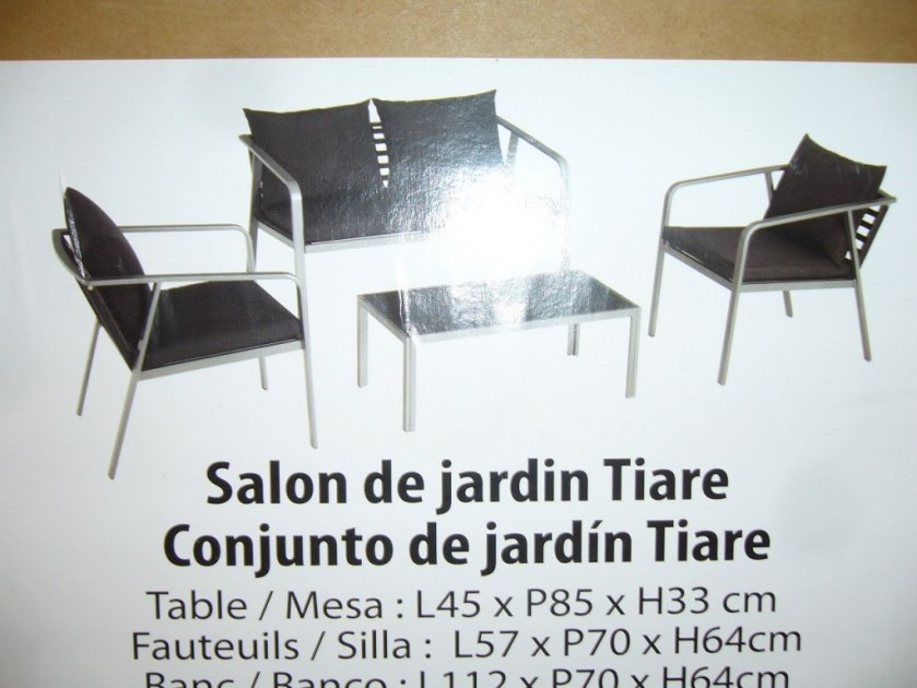 Salon De Jardin Ssam Destockage Grossiste