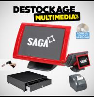 Caisse Enregistreuse Tactile Saga SGS-150-RT tous commerces Avec Logiciel NF 525