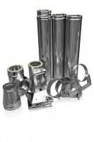 Kit de système de cheminée 130 mm isole en inox