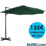 Parasol porte-à-faux alu 300 cm LIVRAISON GRATUITE