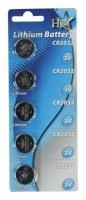 Piles lithium CR2032 3V par 5 pcs HQ