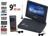 Lecteur DVD TNT portable rotatif 9 pouces (23 cm)