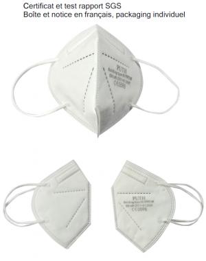 FFP2 Individuelle - boite et notice en français - carton de 100 boite de 10
