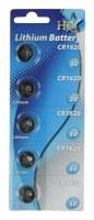 Piles lithium CR1620 3V par 5 pcs HQ