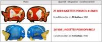 A SAISIR - LOT de 51500 lingettes poisson rigolo