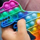 SHOP-STORY - POP IT DINOSAURE : Le Jeu à Bulles Anti-Stress Multicolores Phénomène de...