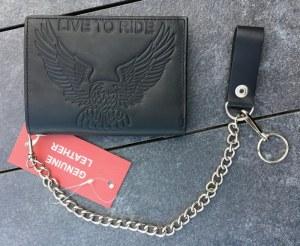 Portefeuille en cuir avec chaine (motif personnalisables possible)