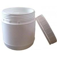Pot en plastique blanc de 500 1000 et 1500ml