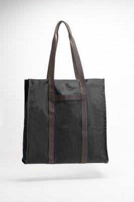 Superbe sac cabas en toile et cuir
