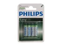 Pack de 4 piles Longlife R03 Micro AAA